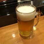 千羽寿司 - ドリンク写真:生ビール