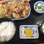 味のうえはら - 料理写真:唐揚げ定食