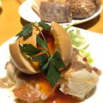 ITALIAN QUATRO - 自家製アンチョビポテトサラダ リッチ卵の燻製卵添え