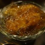 Bar à Vin ムッシュ ヨースケ - おいしい葱と牡蠣のコンソメジュレ