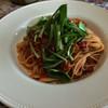ポット・プーリー - 料理写真:豚赤身のミンチと季節の野菜(レンコンと壬生菜)のトマトソース