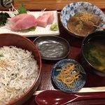 しんば - 釜揚げしらす丼+静岡おでん