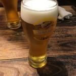 食楽バル・港町バルTAKEO - 生ビール