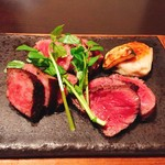 79752863 - ★8肉料理 壱岐牛の炭火焼ステーキ サーロイン イチボ ランプ