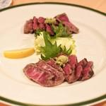 ステーキハウス キッチンリボン - ☆松坂牛のたたき