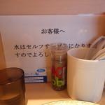 RAMEN RS 改 - カウンター