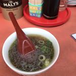 餃子天国 - チャーハンについてるスープ