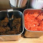 79761597 - 高菜と紅ショウガ