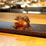明道町中国菜 一星 - 上海蟹クリームコロッケ、金木犀とあまおうのソース