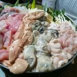 79765898 - 「白子+牡蠣+あん肝+あんこう」鍋(4人前)