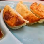 カレータンタン麺 花虎 - 餃子も頼んでみました。