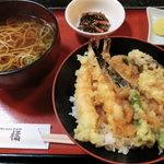 萬寿亭 橘 - 天丼セット1050円