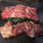 炭火焼肉 たむら - 満足定食  上カルビ&鶏モモ