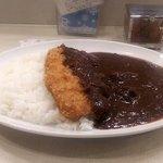 菊屋食堂 - ビーフカレー(中)&ロースカツ