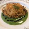 ビストロ スケガワ - 料理写真:くもこのカダイフ揚げ菊菜のソース