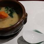 割烹 新多久 - 酒粕鍋