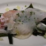 79777868 - 庄内浜直送 本日の魚のカルパッチョ(プラス100円)