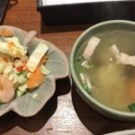 79778154 - 小鉢とスープ