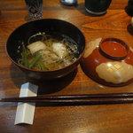 志蕎庵 江月 - 椀物は鱧の蕎麦