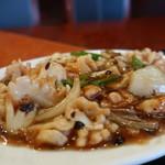生味園 - イカの中国黒豆みそ炒め