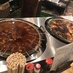 79781589 - どろ炊きと豚串のお鍋が〜。
