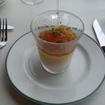 ブラッスリーオザミ - 前菜(オマール海老と黄人参のムース、コンソメジュレイクラ添え)