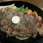 レストラン 吉甚 - サーロインのペッパーステーキ 1080円