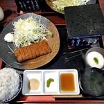 新潟牛華堂 - 牛カツ麦めしとろろ御膳(130g)(麦飯大盛)