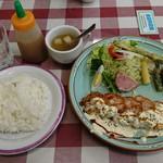 洋食屋 ルーアン - 定食:海老のカツレツ(タルタルソース):980円
