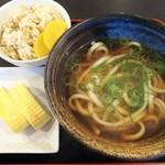 阿波半田製麺所 - 朝定食(370円込)