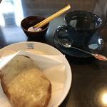 あげ焼きパン象の耳cafe - ランチセットB チーズカルボナーラ&コーヒー