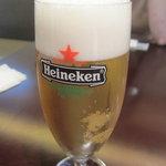 トラットリア イル ペンドーロ - ランチビールが温かったのはダメだな