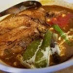 華麺 - リッチ2辛炙りチャーシュートッピング