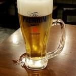 大衆ワイン酒場バルバル - 生ビール:500円税別