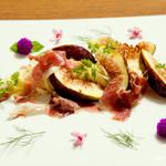 イタリアンレストラン ピーノ - 無花果とプロシュートのカッペリーニ