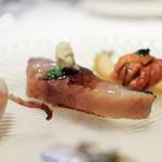 かわ村 - 2018年1月再訪:鯖のアロスティーレ 西洋山葵 葱 バルサミコ☆
