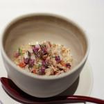 かわ村 - 2018年1月再訪:ヨーロッパイチョウガニと里芋のスフォルマート☆