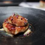 かわ村 - 2018年1月再訪:タラバ蟹と帆立貝のメダリオーネとフォアグラのポワレ☆