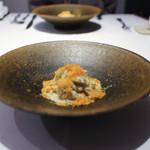 かわ村 - 2018年1月再訪:渡り蟹とほうじ茶のクリームソース 自家製パスタトレネッテ☆