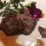 frigerio - 牛フィレ肉のステーキ 黒胡椒ソース トリュフ添え