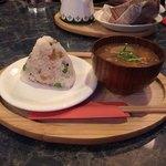 ぴらにやカフェ - 私のおにぎり¥120&豚汁¥280