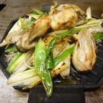 お好み焼 喜代 - 牡蛎ネギ焼