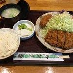 とんかつ竹亭 - ひれかつ定食(1,200円)