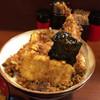 天三 - 料理写真:天丼(えび・きす・いか・かき揚げ)