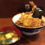 天三 - 天丼(写真ブレてる)1000円(税込)