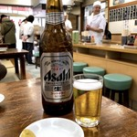 亀戸餃子 - ビール大瓶550円