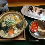 めし屋 里 - 日替わり定食(鍋焼うどん)