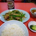 三久飯店 - 8番の牛肉ニラ炒め定食