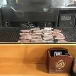 銀の舞 - 丁寧にお肉が焼かれています。