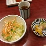 串の豊 - サラダ、香の物【2018.1】